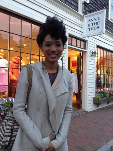 Judith Hill in Nantucket for opening night of the film festival.