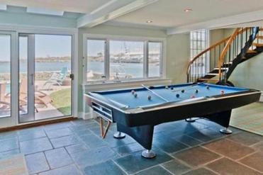 he billiards room at 45 Beacon St., Marblehead.
