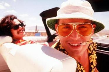 "Depp as Raoul Duke in 1998's ""Fear and Loathing in Las Vegas."""