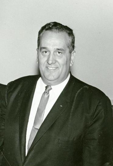 Monte G. Basbas served three terms as mayor of Newton, starting in 1965.