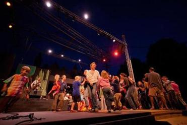David Wax Museum got the audience rocking last year at the Prescott Park Arts Festival in Portsmouth, N.H.