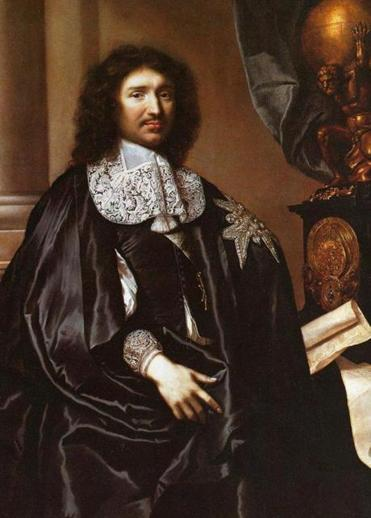 Painting of French statesman Jean-Baptiste Colbert by Claude Febvre, 1666. Painting is housed at the Versailles Palace