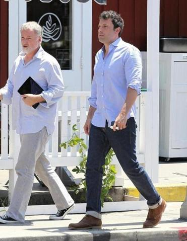 David Fincher (left) and Ben Affleck in Los Angeles on Tuesday.