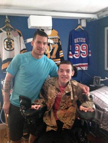 Andrew Ference has entrusted the Bruins' Army Ranger jacket to friend Matt Brown.