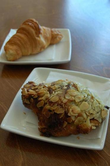 Butter and almond croissants.
