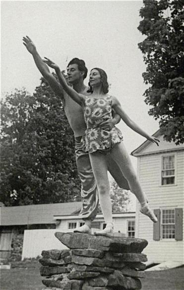 Markova and dance partner Anton Dolin rehearsed outdoors at the Berkshires retreat.