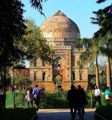 The Lodi Gardens, a public park, includes the ruins of a 15th-century mosque and Lodi dynasty tombs.