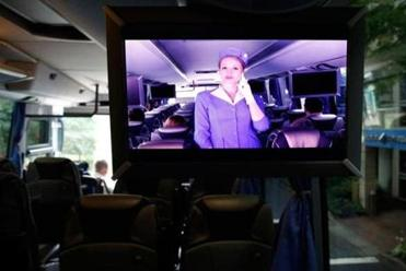 The company runs a commuter bus with Wi-Fi and charging spots.