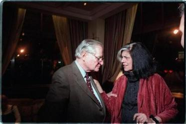 At a 1996 party for the publishing house: poet John Ashberry  and Susan Sontag.