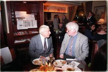 Straus and poet Seamus Heaney.
