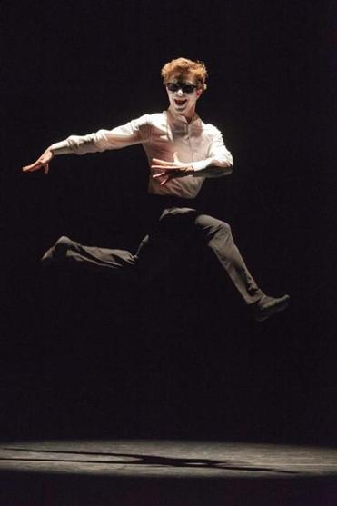 Hugo Vigliotti brings humor to the program with his high-flying moves.