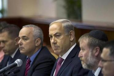 """Rouhani's true face has been revealed earlier than expected,"" said Benjamin Netanyahu (center)."