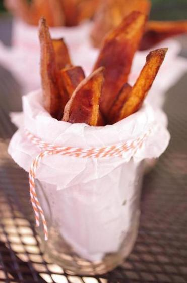 Karoline Boehm goodnick's recipe for sweet potato steak fries.