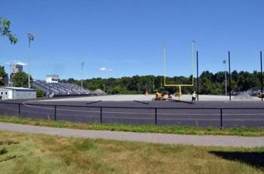 Construction continues on the Xaverian Brothers track.