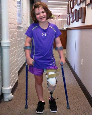 Jane Richard, who lost her older brother Martin and her left leg in the Boston Marathon bombing, is recovering and using a prosthetic.