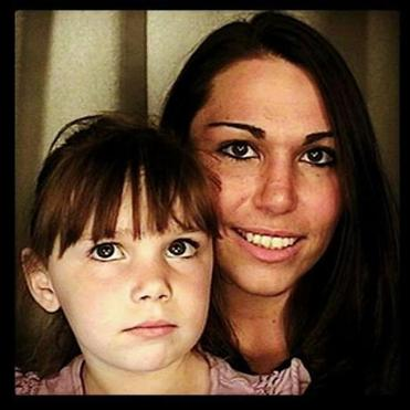 Jennifer Martel and her daughter.