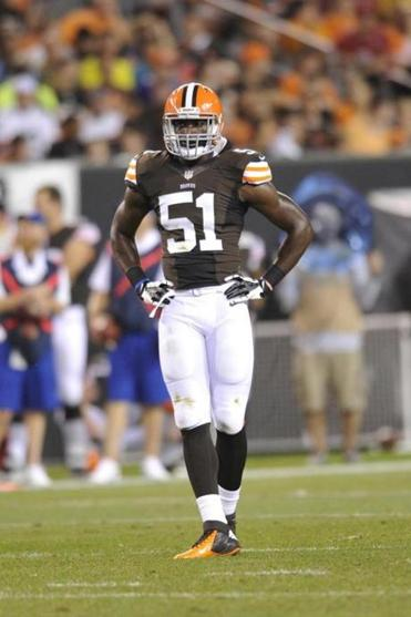 Cleveland Browns defensive end Barkevious Mingo (51) during an NFL preseason football game against the St. Louis Rams Thursday, Aug. 8, 2013, in Cleveland. The Browns won the game, 27-19. (AP Photo/David Richard)