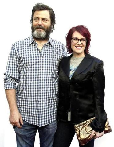 Nick Offerman and Megan Mullally.