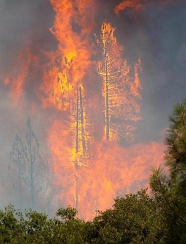The giant blaze in California continued to rage on Friday, and thousands of people were forced to evacuate.