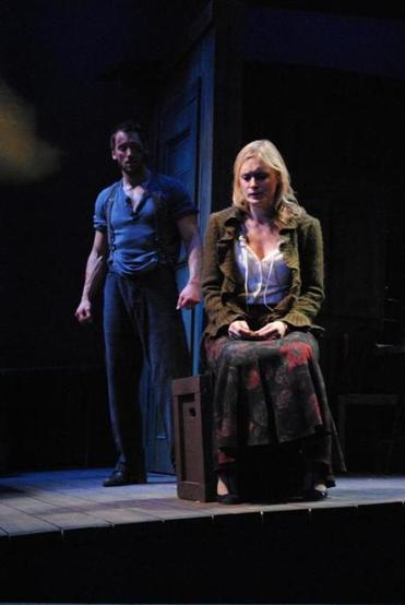 "Derek Wilson and Rebecca Brooksher in the Berkshire Theatre Group production of  Eugene O'Neill's ""Anna Christie."""