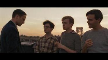 "Daniel Radcliffe (left) and  Dane deHaan in ""Kill Your Darlings."""