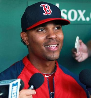 Xander Bogaerts suited up for his first game at Fenway Park on Tuesday.
