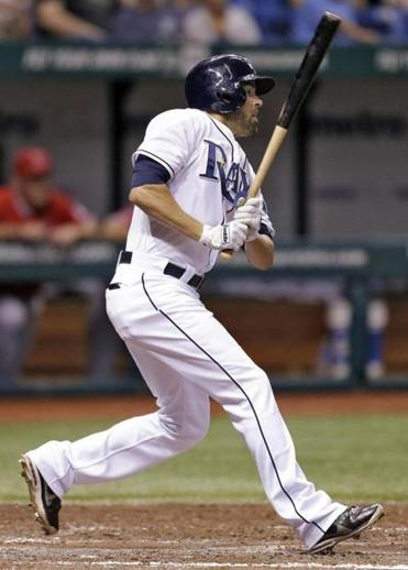 David DeJesus, rapping a single in the fourth, scored twice in the Rays' victory.