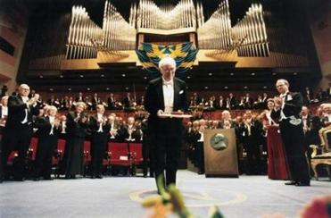 An Irish writer and poet, Seamus Heaney was awarded a Nobel Prize for Literature on Dec. 10, 1995, in Stockholm.