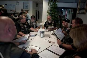 A group of veterans gathered at Big I's Diner for brunch after the rally.