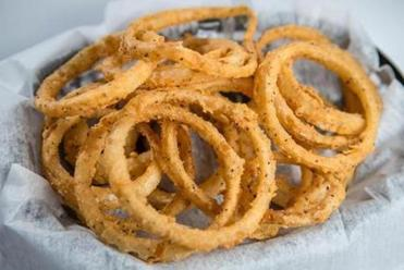 On Retro Burger's menu: onion rings.