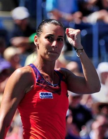 Flavia Pennetta reached a new career milestone - her first Grand Slam semifinal.