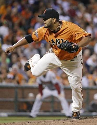 Giants starter Yusmeiro Petit had to settle for a one-hitter against Arizona.