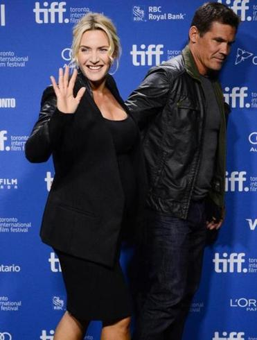 "Kate Winslet and Josh Brolin at the ""Labor Day"" premiere at the Toronto film festival."