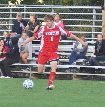 In a 3-1 Wesleyan win, Chris Kafiina scored two goals and assisted on the third.