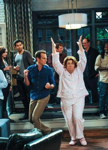 "Will Arnett and Margo Martindale in ""The Millers."""