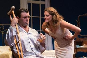 "Steven DeMarco and Madeleine Lambert in ""Cat on a Hot Tin Roof"" in Wellfleet."