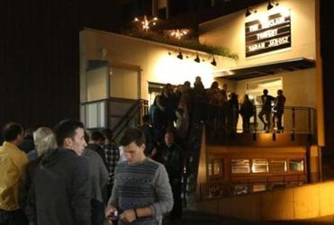 People lined up outside the Sinclair to see a show at the 500-seat concert venue on Church Street earlier this month.