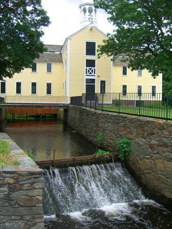 The Slater Mill museum complex showcases the industrial history of the Blackstone Valley.