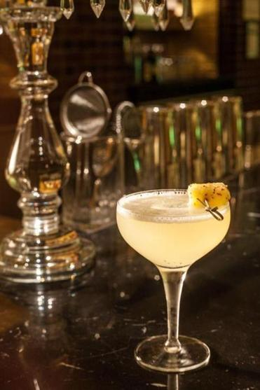 The 3,000-square-foot lounge and cocktail bar is located just off the lobby of the hip Hudson hotel.