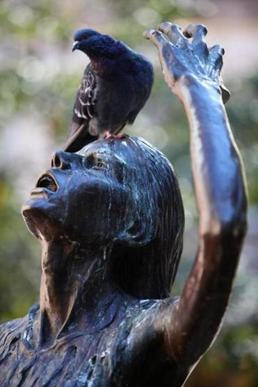 A detail from the Boston Irish Famine Memorial.