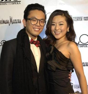 Soprano So Young Park with boyfriend David Tay at the BLO event.