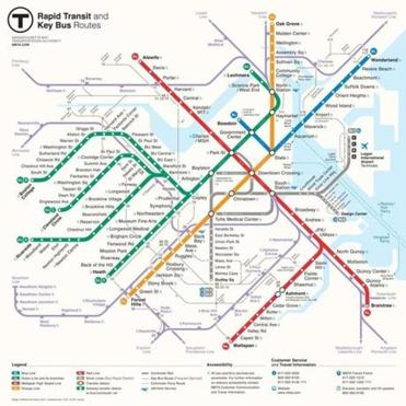 Michael Kvrivishvili of Moscow created the winning design in the MBTA's New Perspectives Map Redesign Competition.