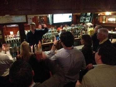 Charlie Baker, who is trying to display a more footloose style in his second run for governor, raised a glass at the Eire Pub in Dorchester last week.