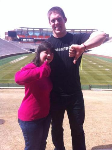 BC linebacker Steele Divitto is grateful to Clemson for helping his sister Collette.