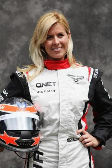 Ms. de Villota was hospitalized for a month after suffering serious head injuries during testing in England last year.