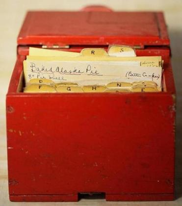 Watertown, MA 050411 Old recipe box, Wednesday, May 4 2011.(Globe Staff Photo/Wendy Maeda) Library Tag 05182011