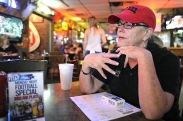 The newcomers are spending big, said Judy Farris, of The Bar in Midland. Longtime residents, meanwhile, are more cirumspect.