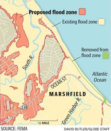 Changes To Flood Insurance Mean Higher Costs Water The Boston Globe - National flood insurance maps