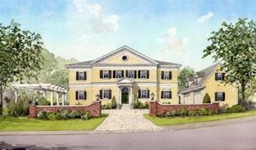 A rendering of what the former Yellow School will look like when it is complete.