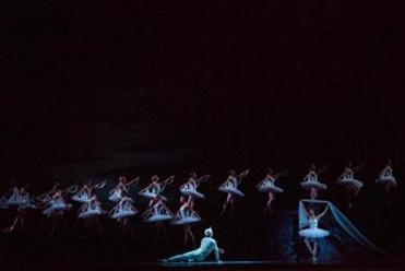 The finale of the Boston Ballets's performance of La Bayadere at the Opera House in Boston.